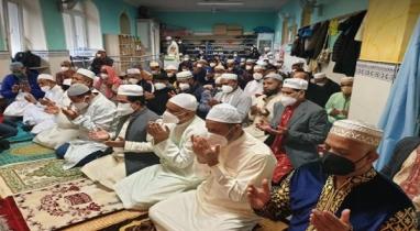 গৌরীপুরে সৌদি আরবের সাথে মিল রেখে ঈদ উল ফিতর উদযাপন