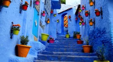 রূপকথার মতো নীল রঙে রাঙা মরোক্কোর শেফচাউইন শহর