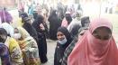 উৎসবমুখর পরিবেশে নান্দাইল পৌরসভার নির্বাচন চলছে